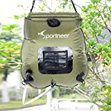 Solar Shower Bag, 5-gallon Camping Shower with Removable Hose and On-off Switch-able Shower Head by Sportneer