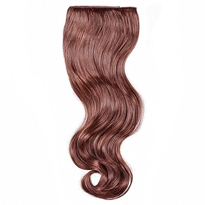 Hollywood Hair Secret 18 Clip In Hair Extensions Auburn Brown