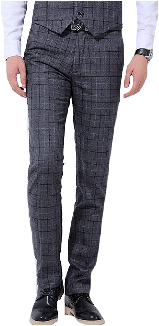 Honey GD Mens Hidden Expandable Waist Classic Plaid Plain Front Pant