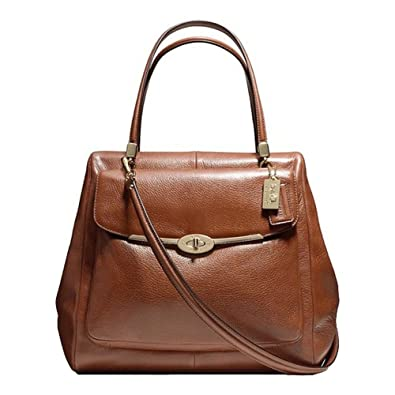 08b14665c8ce ... uk coach madison north south satchel in leather chestnut 35c4f ac804 ...