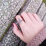 Generic Japan and South Korea to do the old retro simple Thai silver rings women girls lady joint new Phoenix peacock combination index finger ring influx of people Accessories