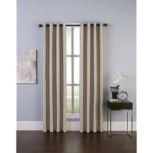 Faux Silk Curtain Amazon Com