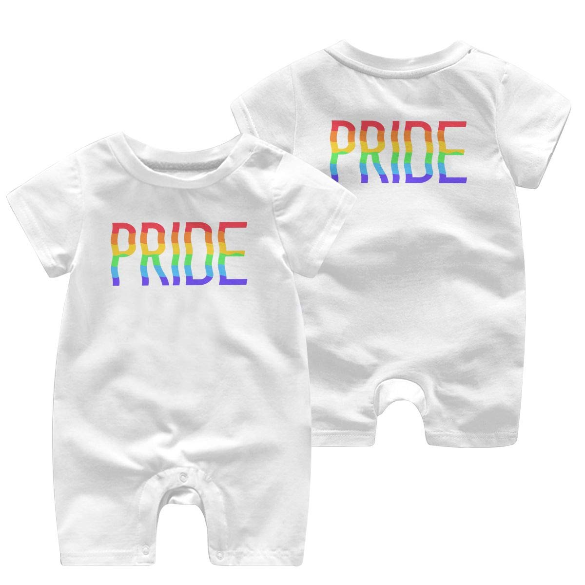 Uycjsamui Pride Romper Short Sleeve Basic Romper Coveralls Cute Double Sides Print Baby Boy//Girl Playsuit Jumpsuits