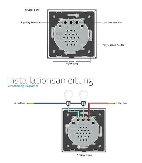 Großzügig Doppellichtschalterverkabelung Bilder - Der Schaltplan ...