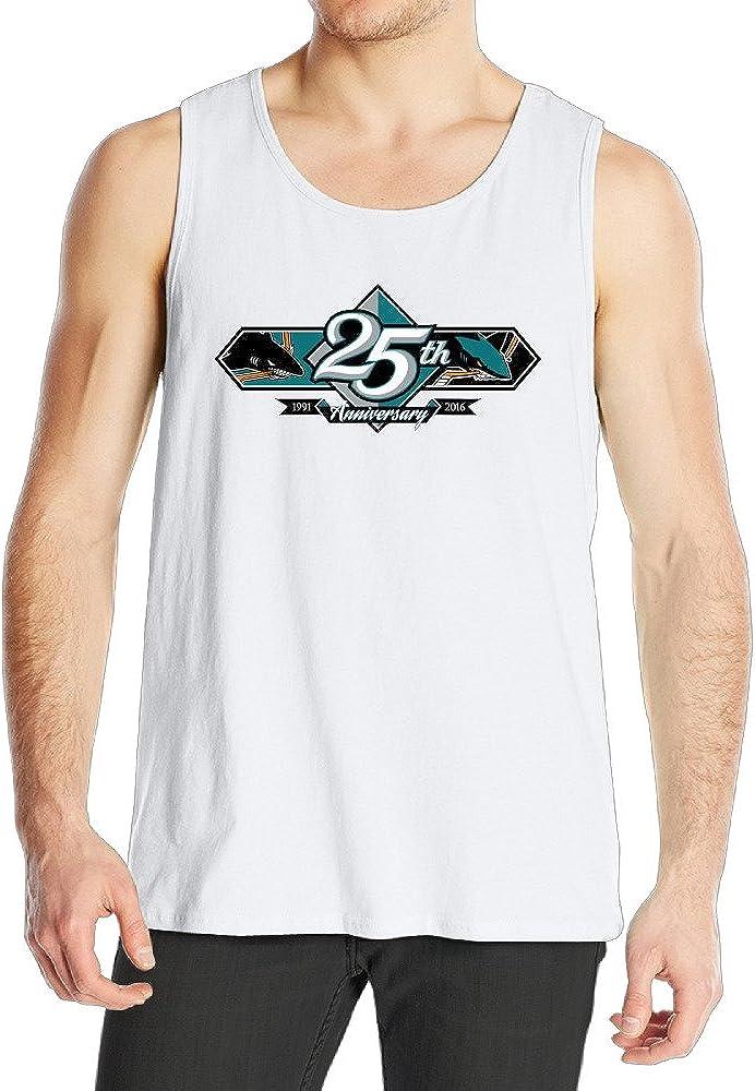 Nobee 25th Sharks Ice Hockey Tank Top Vest Sleeveless For Men