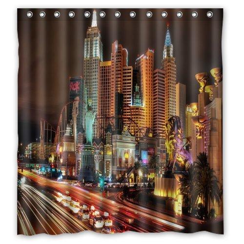 Las Vegas night Shower Curtain