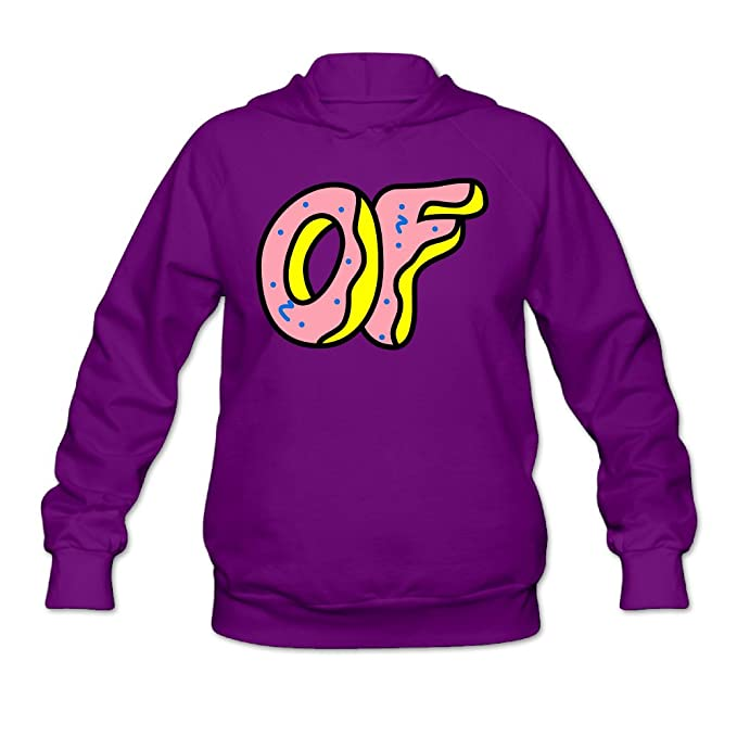 fa418374c20db2 Women s Odd Future Donut Logo Hoodies Purple M  Amazon.ca  Clothing ...