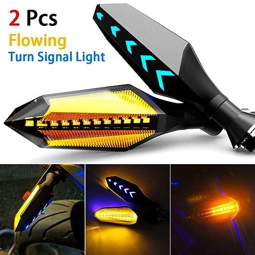 DC 12V Luz de Se/ñal de Giro Indicador Luces Intermitentes Impermeable para Motocicleta KKmoo Luz de Giro LED Moto