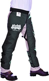 "product image for LABONVILLE Full Wrap Chainsaw Chaps - Overall Length 40"" - Made in USA - Green"