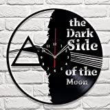 Pink Floyd The Dark Side of the Moon Vinyl Record Wall Clock Fan Art Handmade Decor Unique Decorative Vinyl Clock 12