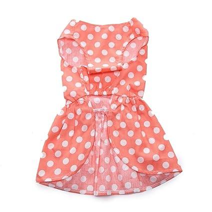 fb9647bb75fb Amazon.com   Spring And Summer Dog Dress Dot Print Doggie Sundress ...