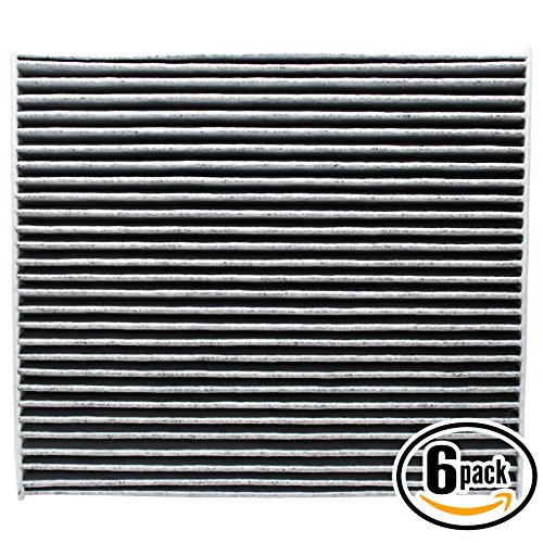 6-Pack Replacement Cabin Air Filter for 2011 Hyundai SONATA L4 2.0L 1998cc 122 CID Car/Automotive - Activated Carbon, ACF-11178