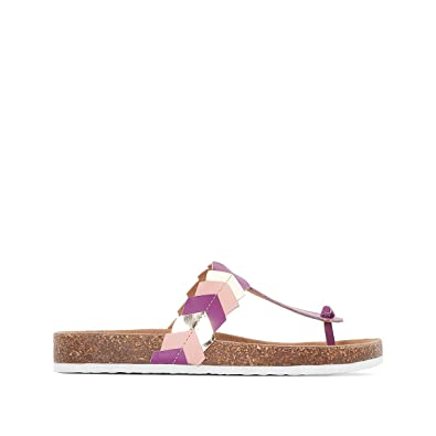 Castaluna Damenschuhe Wide Fit Leder Mules Farbeed Pink 842775