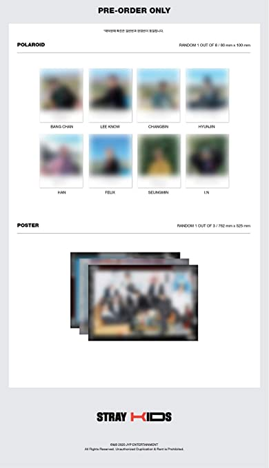Stray Kids gefaltetes Poster Album Gogo extra Fotokarten-Set Vorbebestellvorteil limitierte Auflage