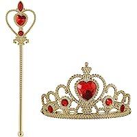 Vicloon Accesorios de Vestir Princesa, Elsa Accesorios, Conjunto con Accesorios de Princesa del Hielo Elsa, Princesa de…