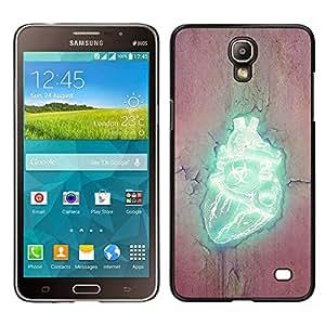 // PHONE CASE GIFT // Duro Estuche protector PC Cáscara Plástico Carcasa Funda Hard Protective Case for Samsung Galaxy Mega 2 / Corazón Biohazard /