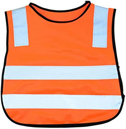 Tofern Children High Visibility Breathable Reflective Safety Vest Kids Construction Costume Cycling Running Jogging Gear for Boys and Girls