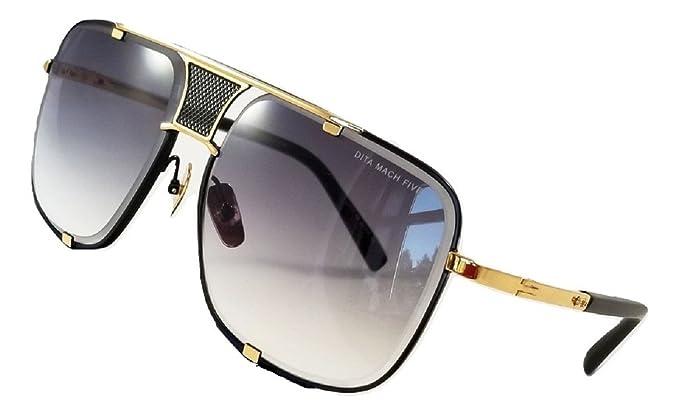 66bb334ce5478 Dita Mach Five Gafas de sol Gold   Negro con lente gradiente destello Gris