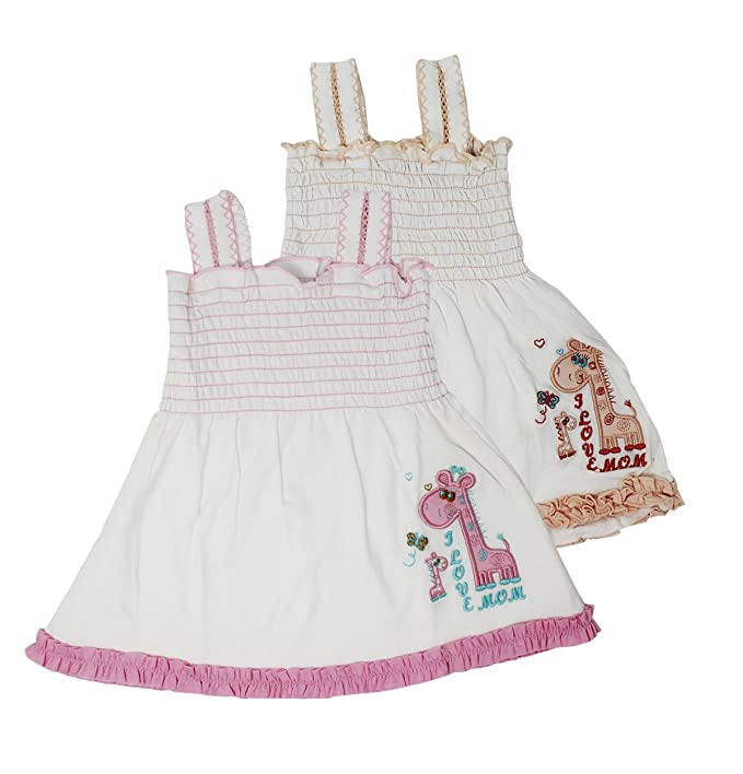 781b7b9657fe Babilav Baby Girl Cotton Frock Hosiery Cotton Frock (Combo Pack) (0 ...