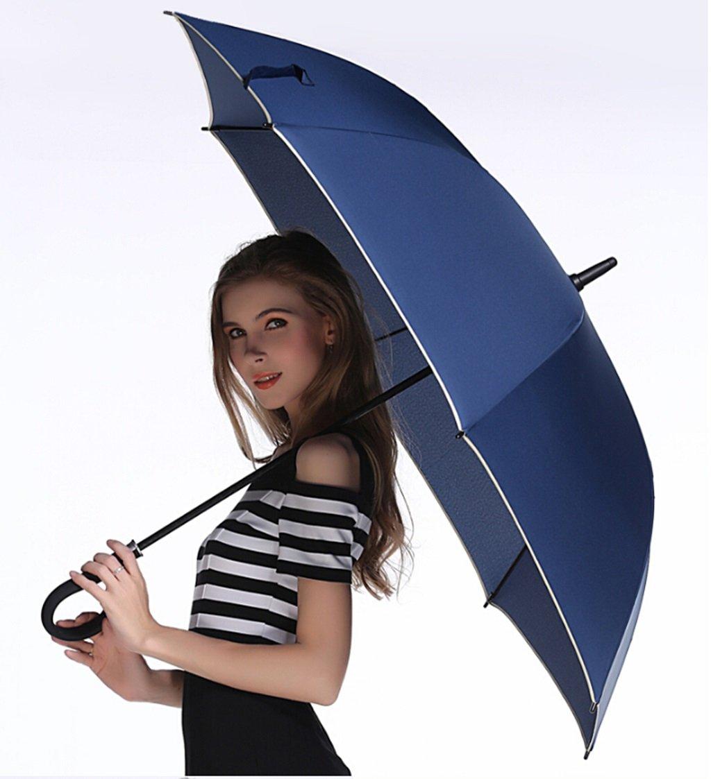 Regenschirm Paar Haushalt gro/ßen Pfanne Windschirm Gesch/äft Regenschirm gebogenem Griff Haken Regenschirm Sonnenschirm