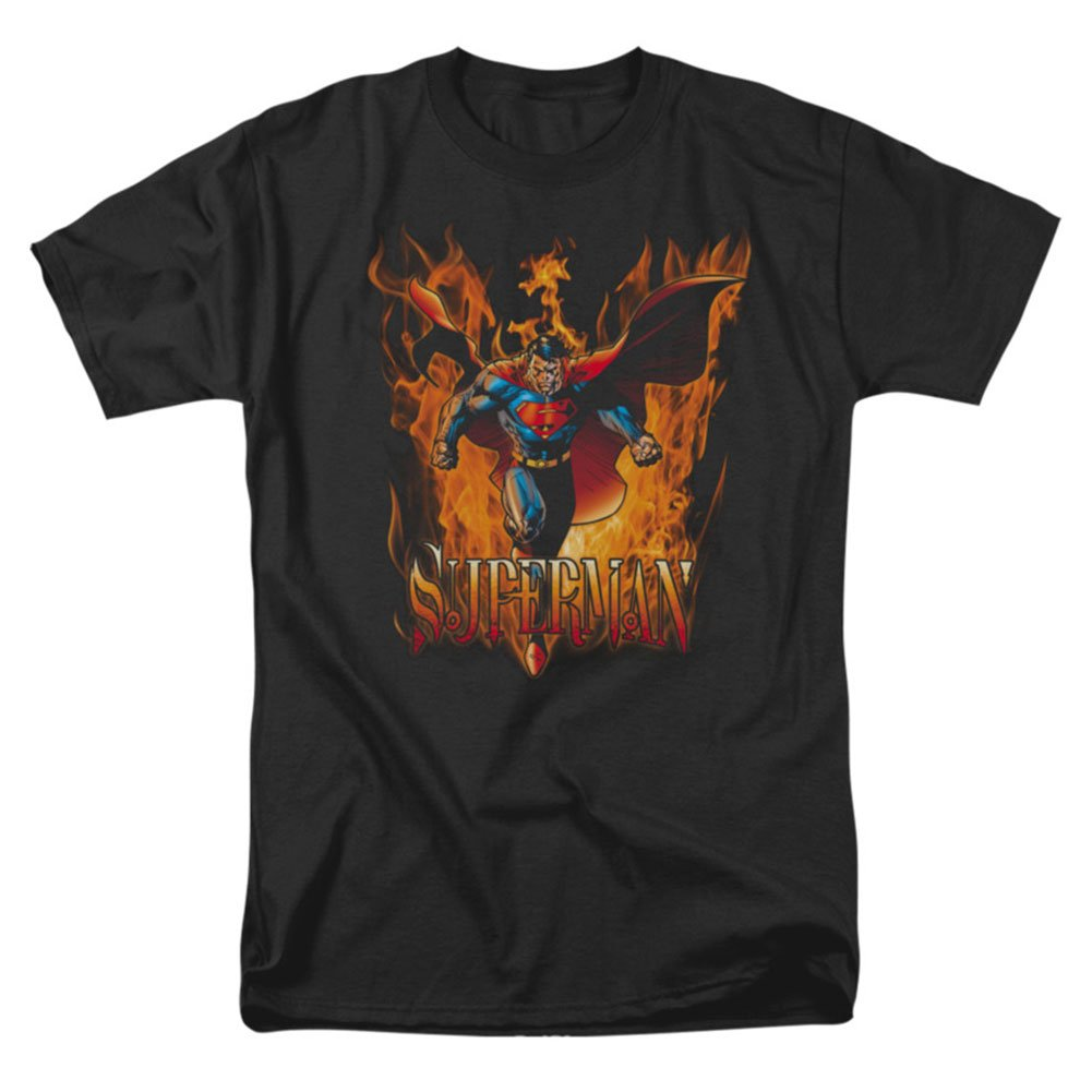 Superman DC Comics Through The Fire Adult T-Shirt Tee