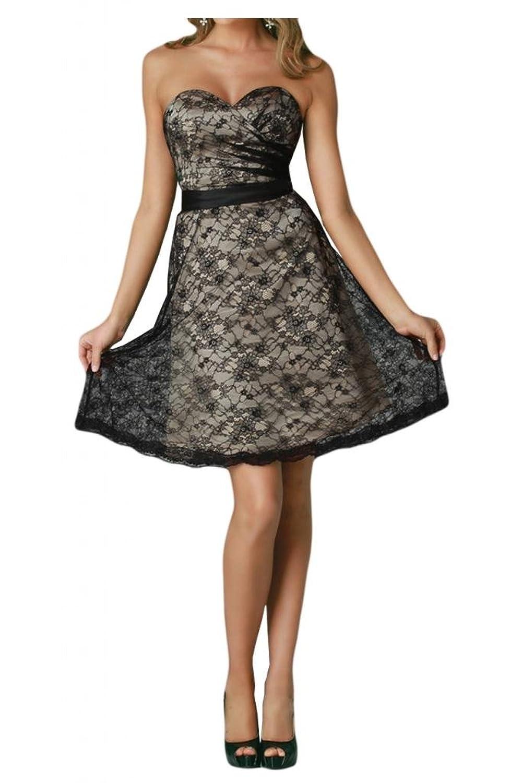 TOSKANA BRAUT Damenmode Herzform Abendkleider Kurz Spitze Cocktail Party Ball Hochzeitskleider