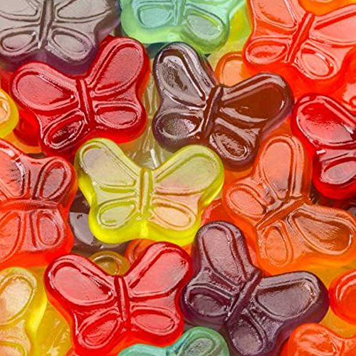 Mini Gummy Assorted Fruit Butterfly 7.5 Oz Bags - Pack of 12