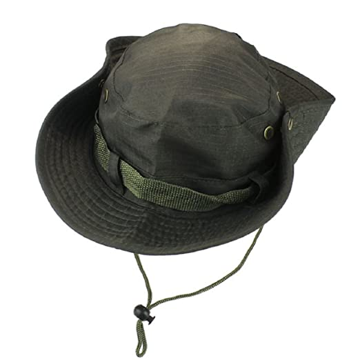 3c0d21a2fad Lookatool Unisex Maple Leaf Pattern Bucket Hat Boonie Hunting Fishing  Outdoor Cap Wide Brim Military Army