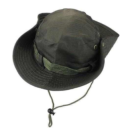 fd797072342 Lookatool Unisex Maple Leaf Pattern Bucket Hat Boonie Hunting Fishing  Outdoor Cap Wide Brim Military Army