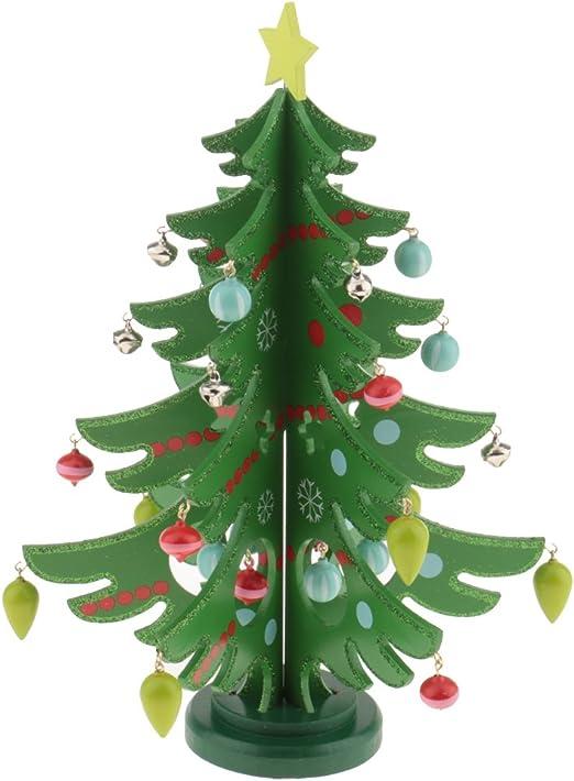 LOVIVER DIY Árbol de Navidad muñeco de Nieve Caja de Madera Escritorio Soporte de Escritorio hogar Fiesta Navidad decoración: Amazon.es: Jardín