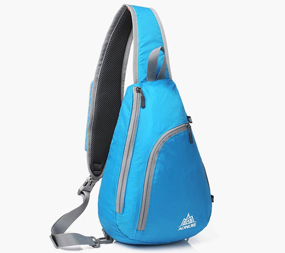 Aonijie Unisex Triangle Bag One Shoulder Bags Messenger Korean Waist Blue Green Folding Chest Packs Sports Outdoors