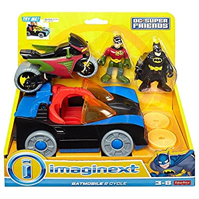 Fisher-Price Imaginext DC Super Friends Batmobile & Cycle: Toys & Games