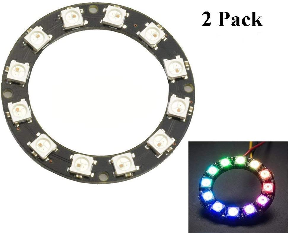 61 Bit WS2812 5050 RGB LED Ring Light Integrated Driver Module for Arduino BU