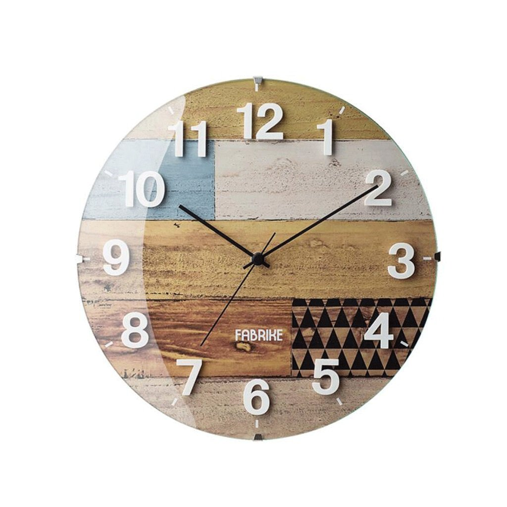 TXXM® クリエイティブファッション木製の壁時計日本語シンプルなミュート時計リビングルームの寝室の時計 B07F78SQ28