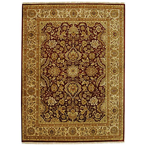 Safavieh Dynasty Collection DY252A Hand-Knotted Rust and Ivory Premium Wool Area Rug (8' x 10')