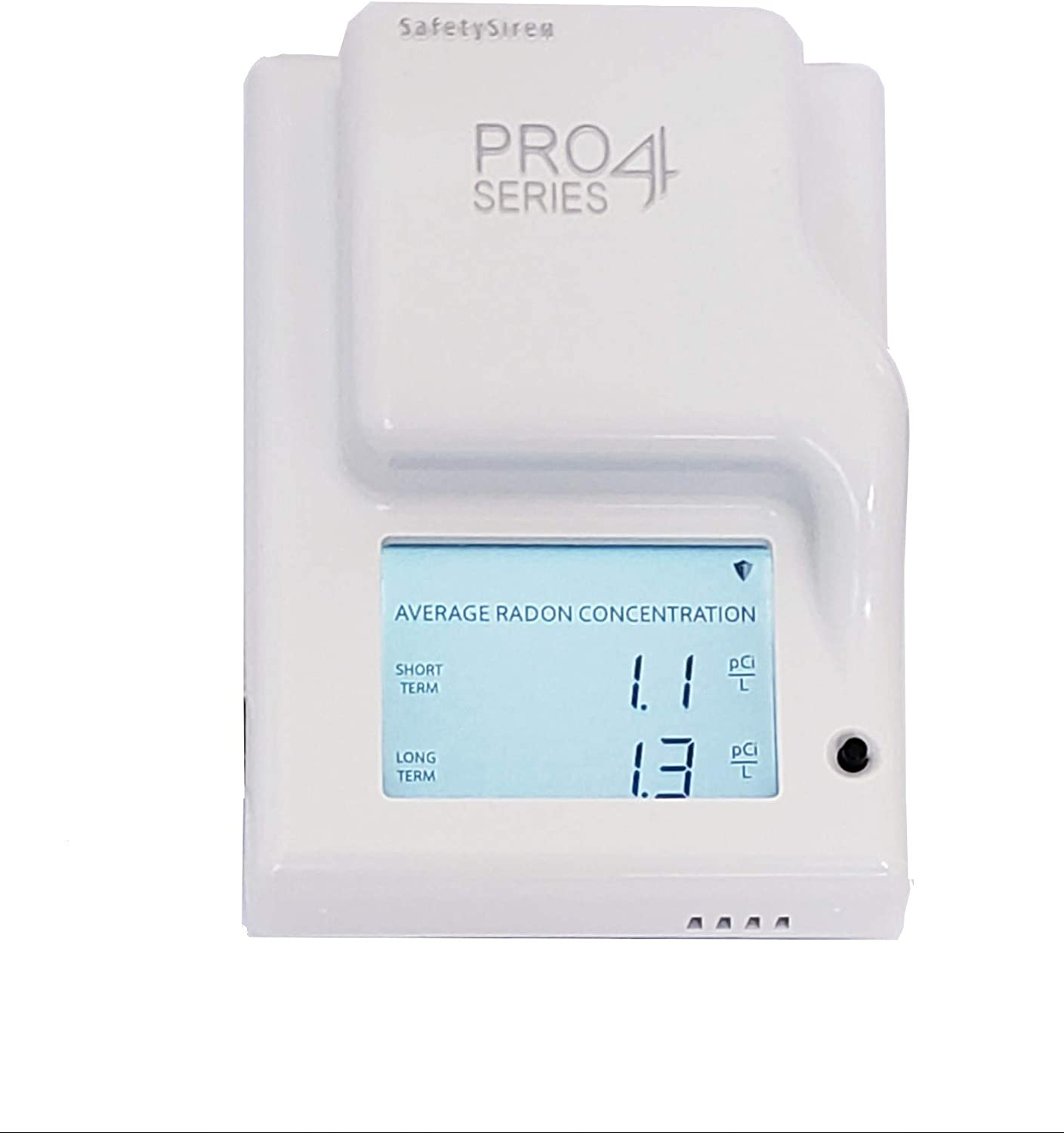 SafetySiren Pro4 Series (4th Gen) - Leader in Home Radon Detection Since 1993. Made in The USA - USA Version pCi/L