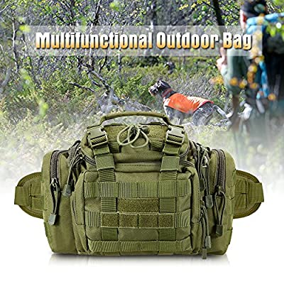 Lixada Tactical Waist Pack Utility Outdoor Gear Fanny Bag Compact Military Deployment Sling Pouch for Camping Hiking Fishing Hunting Travelling