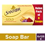 Santoor Gold Soap 125g (Pack of 6)