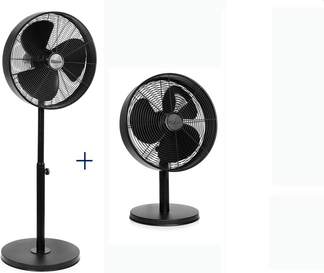 Stand-Ventilateur Table-Ventilateur Ø 30 cm 40 W Noir NEUF