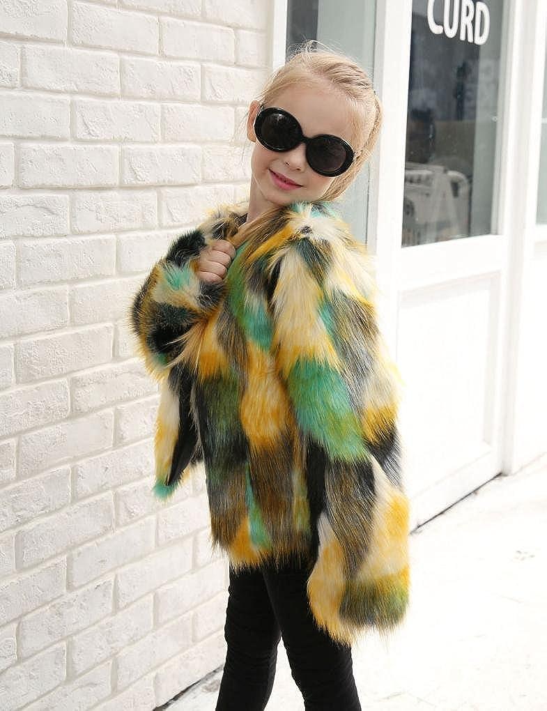 Coerni Premium Fashion Cotton Baby Girl Artificial Fur Vest Jacket Coat