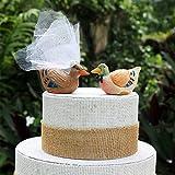 Mallard Wedding Cake Topper: Handcarved Wooden Duck Wedding Cake Topper