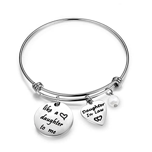 amazoncom gzrlyf daughter in law bracelet mother in law bracelet like a mother daughter to me charm bracelet daughter in law gift mother in law gifts from
