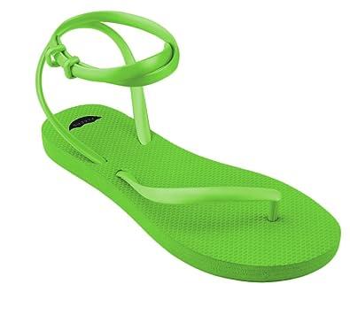 39e9a21ef9f188 FLEEPS Women s Lime Green Sandals 5