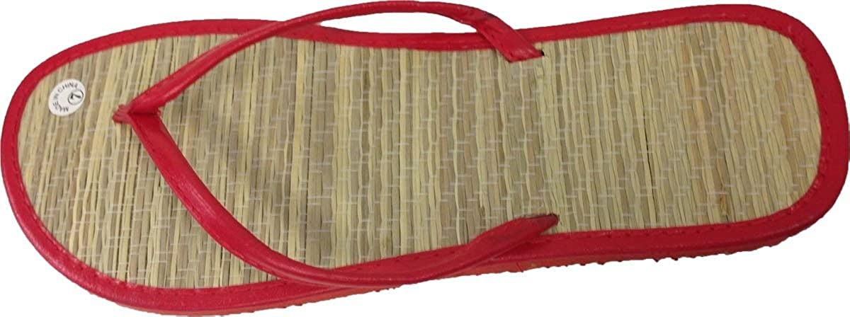 New Bamboo Sandals Womens Flip Flops Flats Shoe Velvet Thongs Beach Summer Heel 3//4