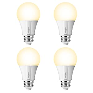 Element Classic by Sengled - 4 Pack - A19 60W Equiv. Soft White (2700K) Smart LED Bulb, Zigbee, Works with Amazon Echo Plus & SmartThings, Hub Required for Amazon Alexa & Google Assistant