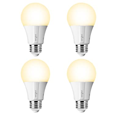 Sengled Element Classic Smart LED Light Bulb (Hub Required), A19 Dimmable LED Light Soft White 2700K 60W Equivalent, Works with Alexa / Echo Plus / SmartThings / Google Assistant, 4 Pack
