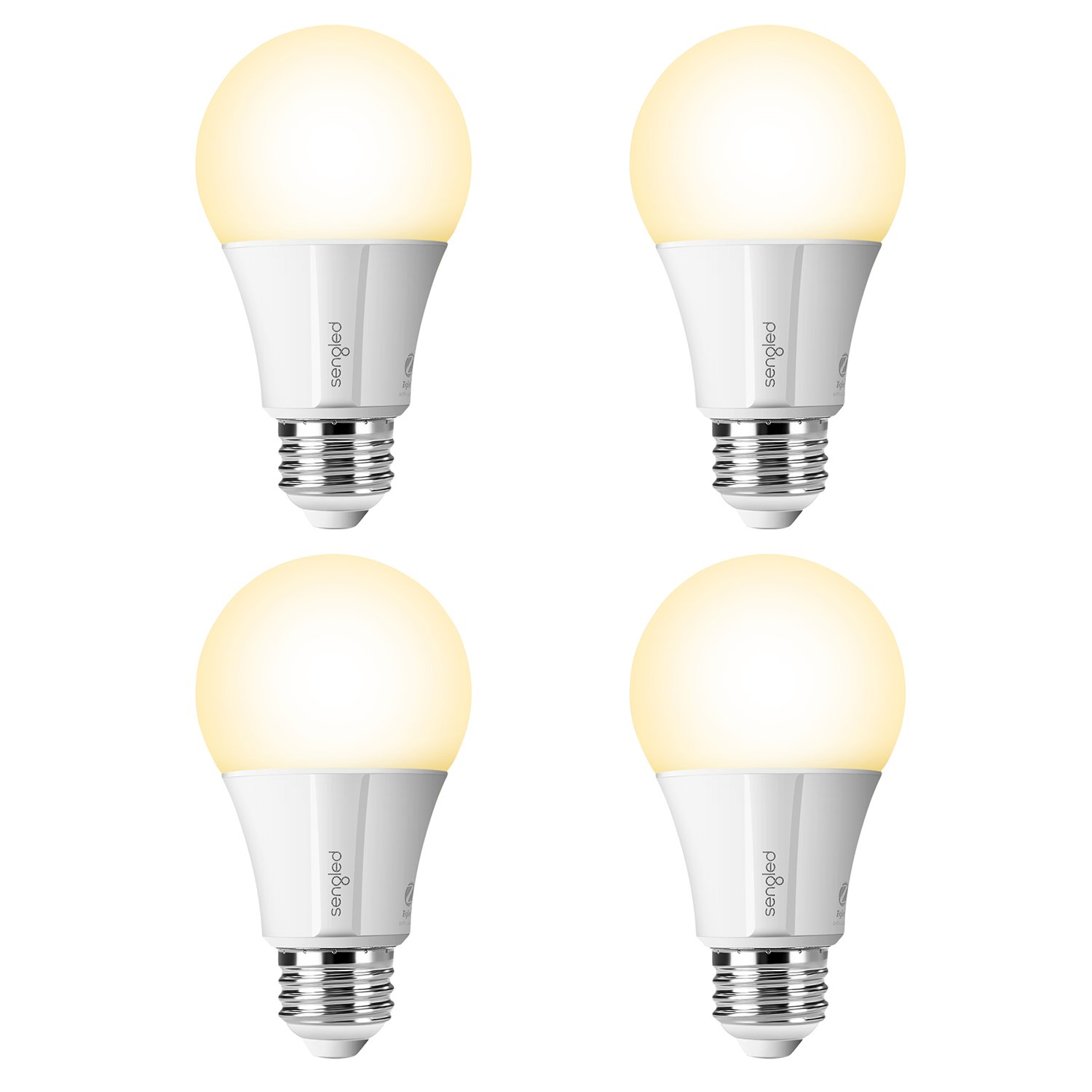 Sengled Smart LED Soft White (Element Classic) Bulb, Hub Required, 2700K, A19 60W Equivalent, Works With Alexa, Google Assistant & SmartThings, 4 Pack
