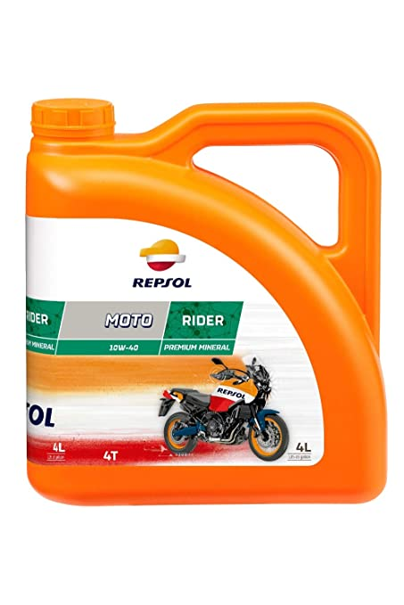 Repsol RP165N54 Moto 4T 10W-40 Aceite de Motor, Multicolor, 4 L ...