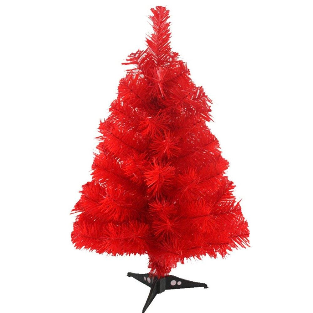 S_SSOY 2 Foot Christmas Trees Artificial Xmas Pine Tree with PVC Leg Stand Base Home Office Holiday Decoration (Gold) S-SSOY