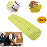 2 PCS Hot Ironing Measuring Ruler,High Temperature Resistance Ironing Iron Rule DIY Sewing Supplies Measuring Handmade…